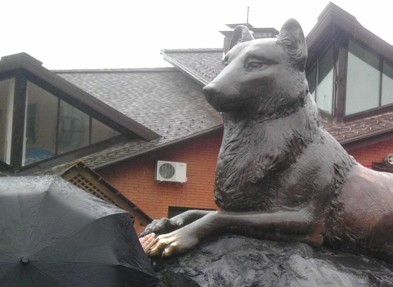 Ижевский зоопарк - статуя волка