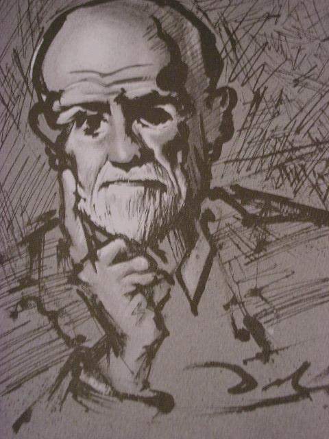 «Портрет Фрейда», 1937 (Рисунок тушью на промокательной бумаге)